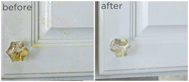 如何使用DIY脱脂剂喷雾清洁厨房橱柜中的油脂.jpg